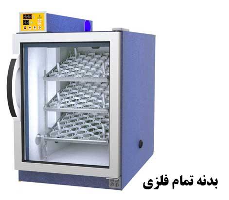 تصویر بدنه فلزی دستگاه جوجه کشی دماوند بلدرچین
