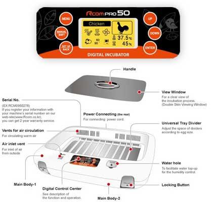 برد دیجیتال Rcom Pro50-چیکن هچ
